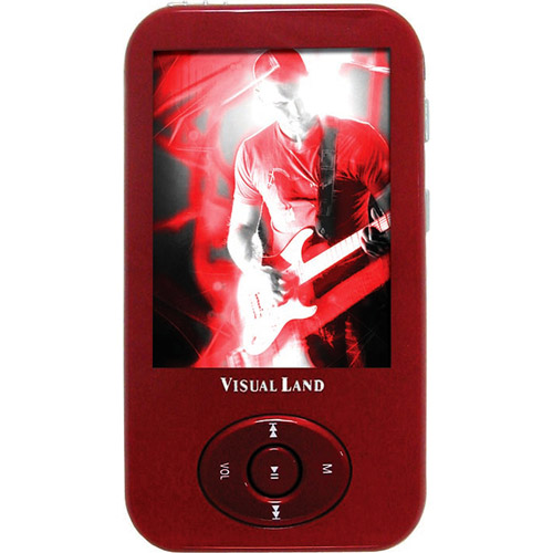 Visual Land V-Motion Pro 4GB MP3 Player, Assorted Colors