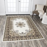 Rizzy Home XI6949 Ivory 8' x 10' Power-Loomed Area Rug