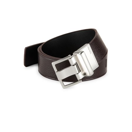 Reversible Leather Belt Calvin Klein Embossed Belt