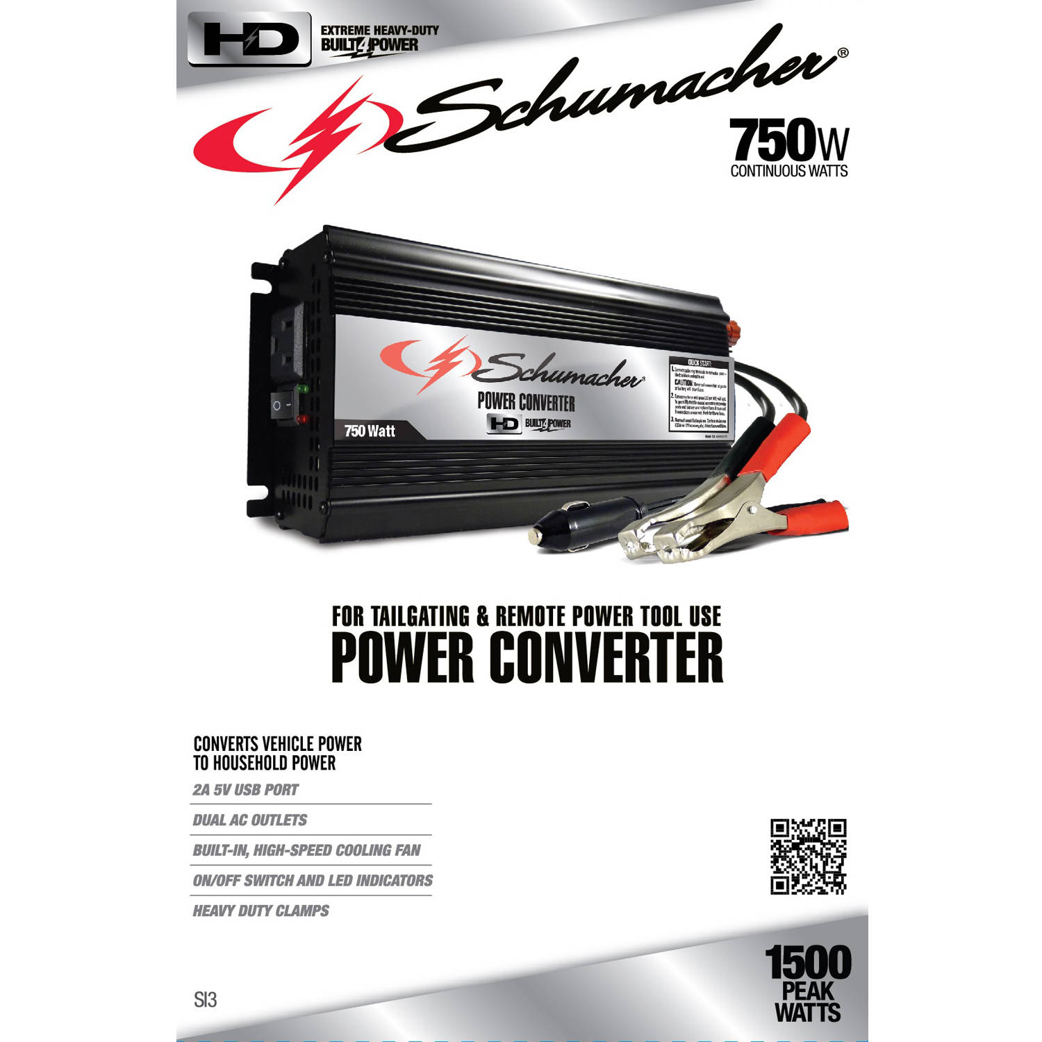 Schumacher Electric 750w Power Converter Automatic Switching For Battery 8211 Usb Connection