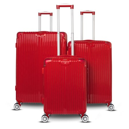 Gabbiano - Gabbiano Macan Collection 3 Piece Expandable Hardside Luggage Set - Walmart.com