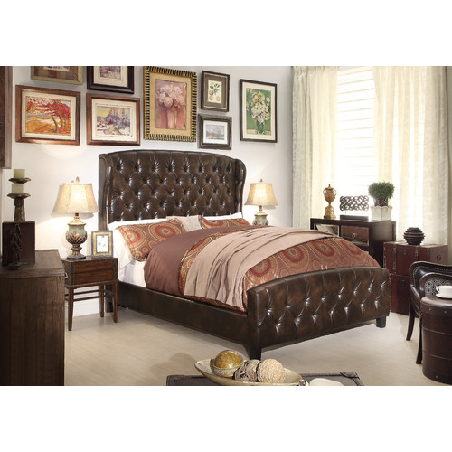 Mulhouse Furniture Feliciti Queen Upholstered Platform Bed