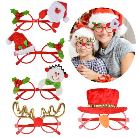 Adult Christmas Party Ideas (Unisex Christmas Glasses Frame Creative Cartoon Santa Claus Snowman Deer Christmas Eyeglasses Party Favors Supplies Adult Kids Toy Glasses Photo Props for 2020 New Year Christmas)