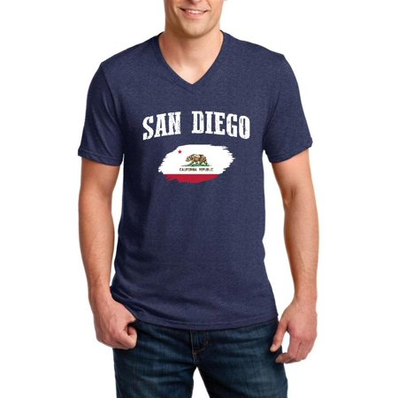 San Diego California Men V-Neck Shirts - Adult Store San Diego