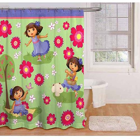 Jay Franco And Sons 17695233 Dora Explorer Shower Curtain Park Picnic Bathroom Accent