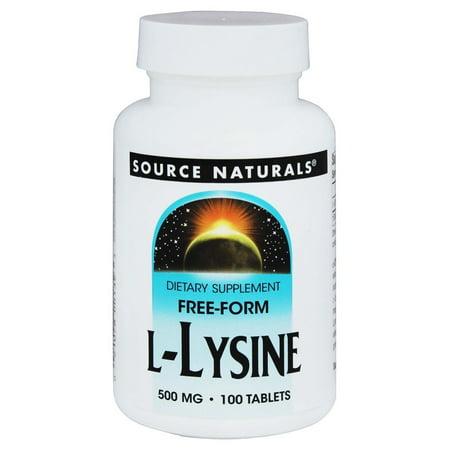 Source Naturals Source Naturals  L-Lysine, 100 ea