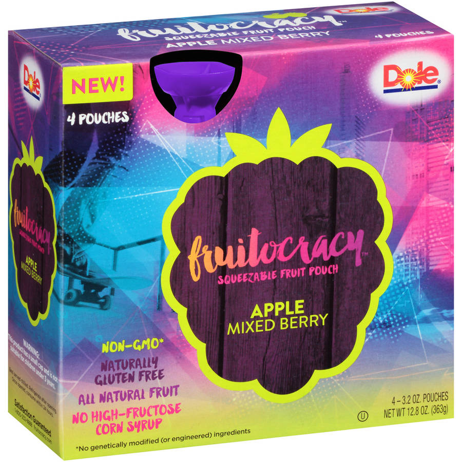 Fruitocracy Squeezable Fruit Pouch - Apple Mixed Berry, 3.2 oz. (4 pack)