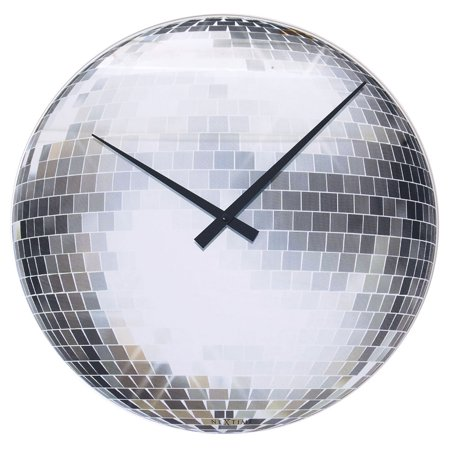 Mirrored Disco Ball Wall Clock Walmart Com