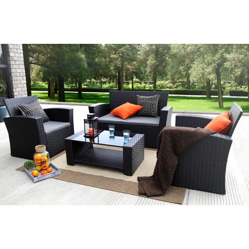 Ebern Designs Edward 4 Piece Sofa Set with Cushions