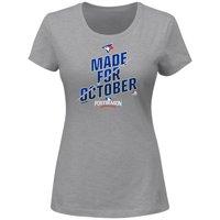 Toronto Blue Jays Majestic Women's 2016 Postseason Wild Card Locker Room T-Shirt - Heathered Gray