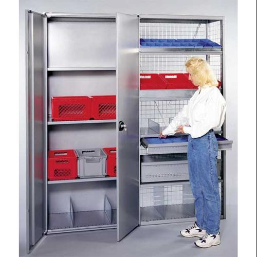 SSI SCHAEFER FD8536 Double Swing Door Set,Steel,Gray,PK 2