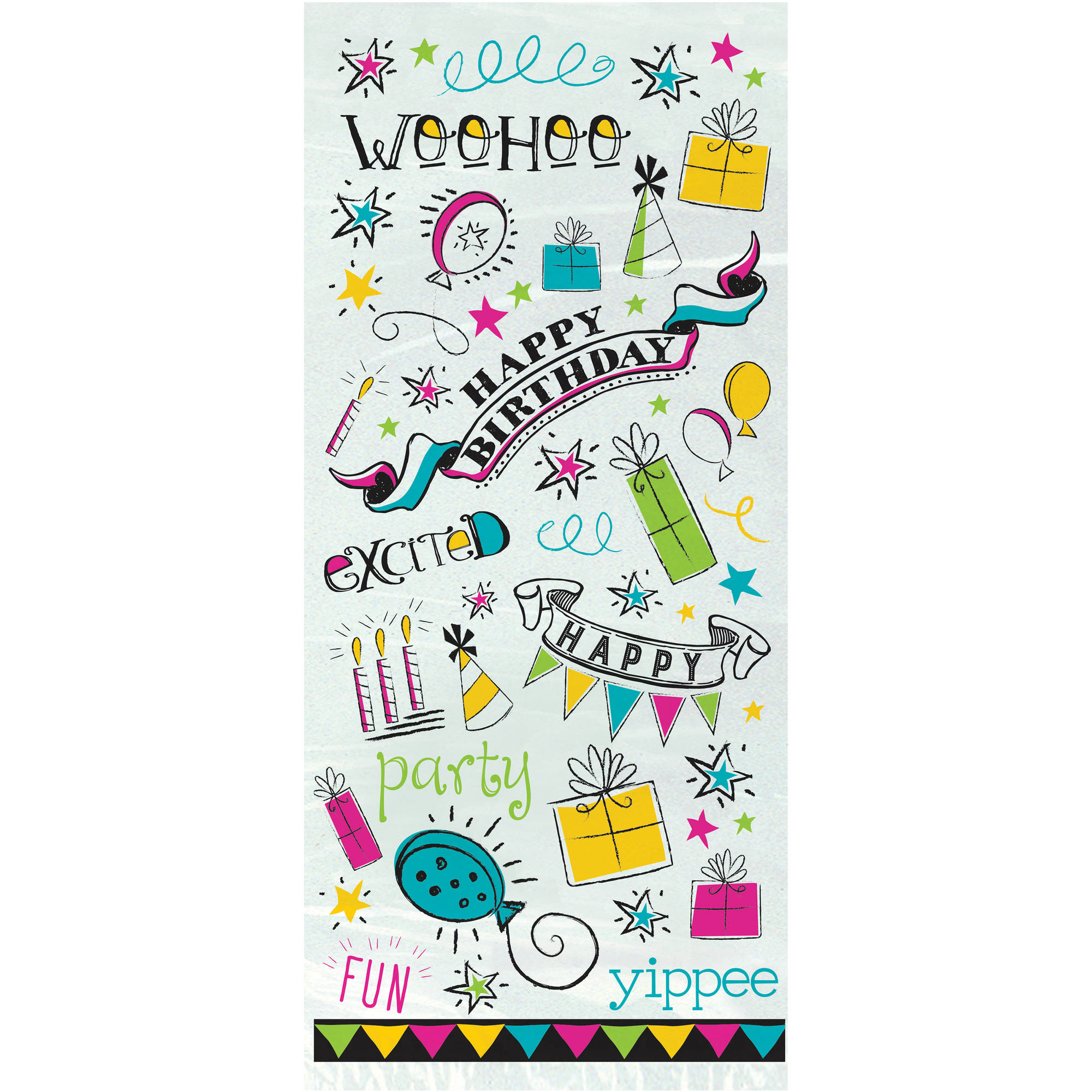 Doodle Happy Birthday Cellophane Bags Pack Of 20 Walmart