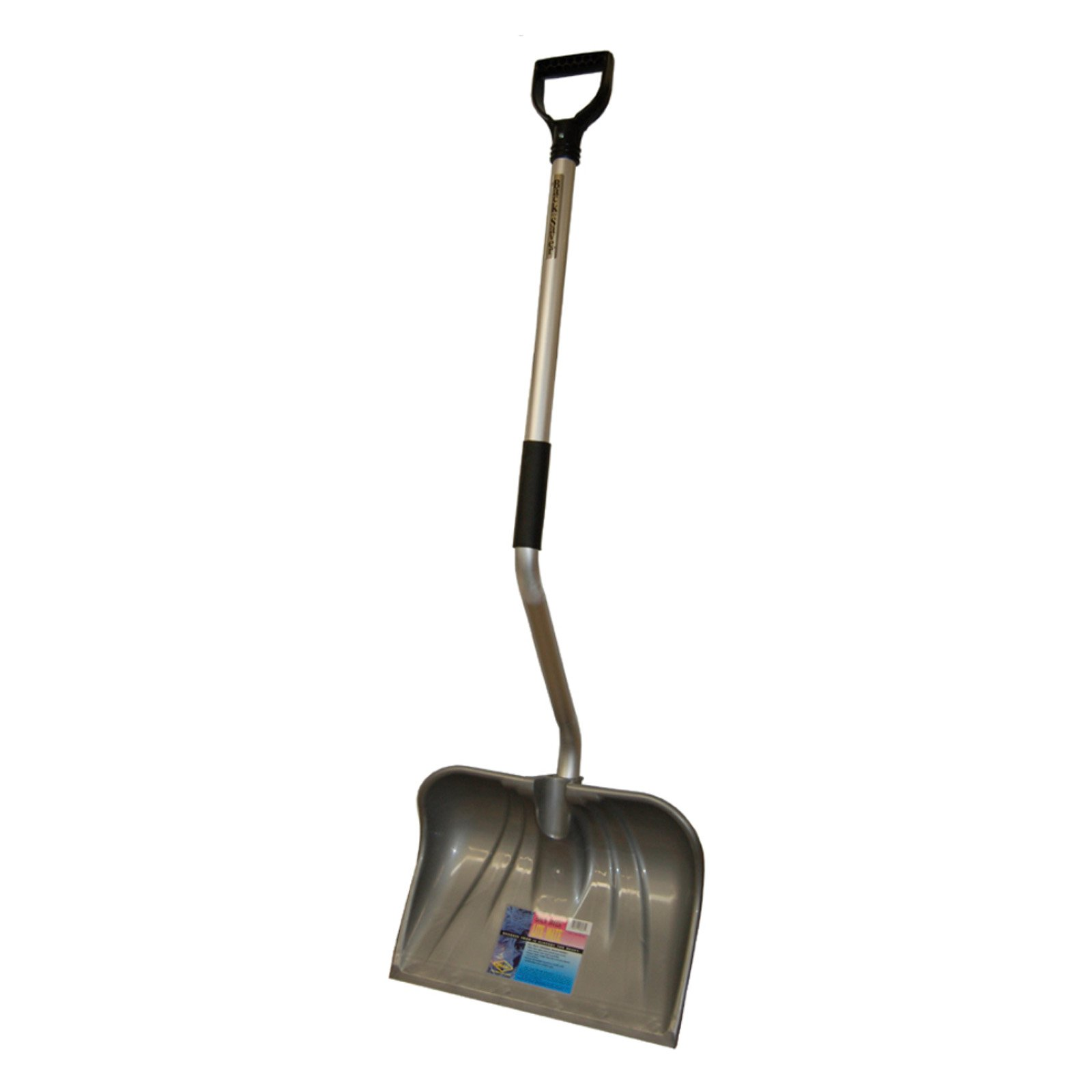 Back-Saver 52 in. Ergonomic Steel Snow Shovel with Wearstrip by Rugg Mfg.