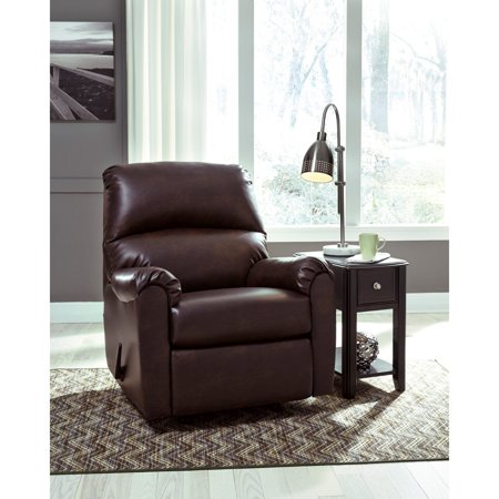 Flash Furniture Signature Design By Ashley Talco Rocker Recliner In Burgundy Faux Leather