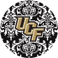 Stoneware Drink Coasters, University of Central Florida Pattern