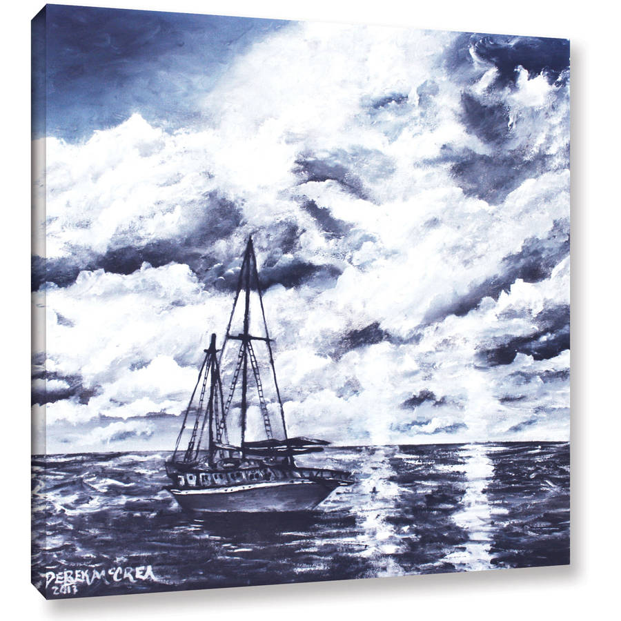 "ArtWall Derek Mccrea ""Sailboat Oil Painting"" Gallery-wrapped Canvas"