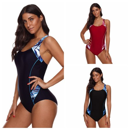 Womens One Piece Swimsuit Bathing Suit Athletic Sport Training Exercise