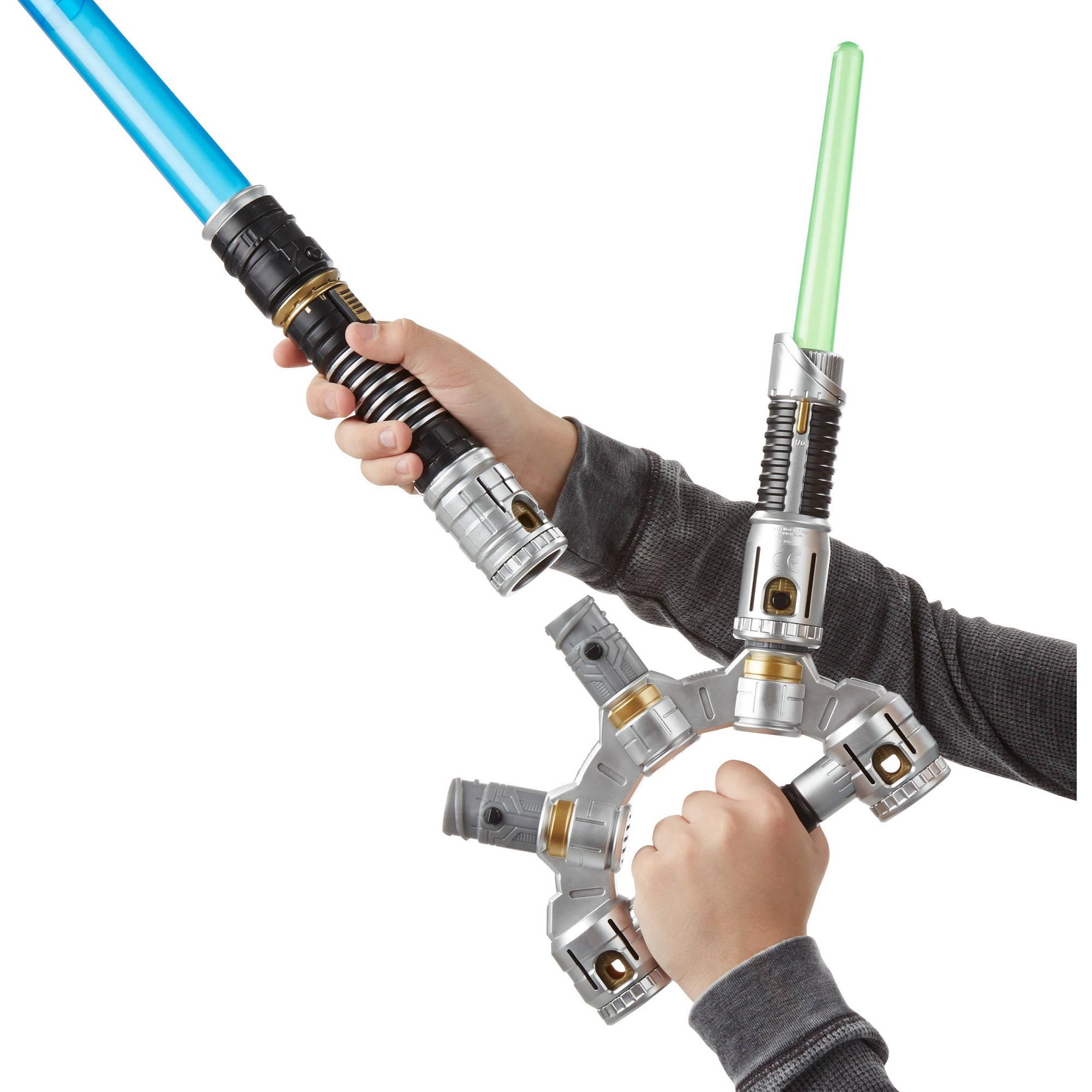 Star Wars Bladebuilders Jedi Master Lightsaber Walmart