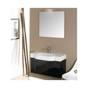 """Nameeks NE2 Iotti 35"""" Wall Mounted Vanity Set with Wood Cabinet, Ceramic Top and"""