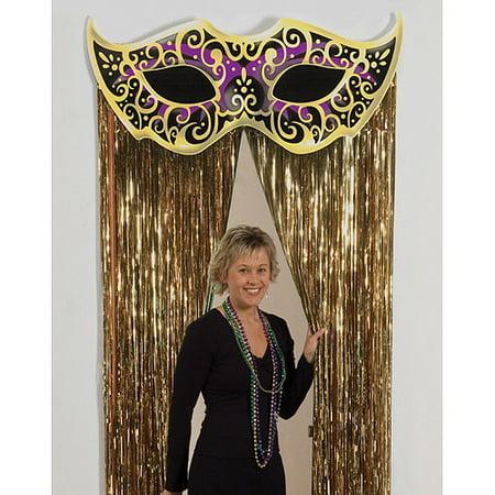 Mystique Mask Gold Foil Door Curtain