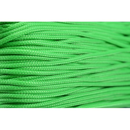 95 Cord - Neon Green - Type 1 Cord - 100 Feet on Plastic Winder - Bored Paracord Brand