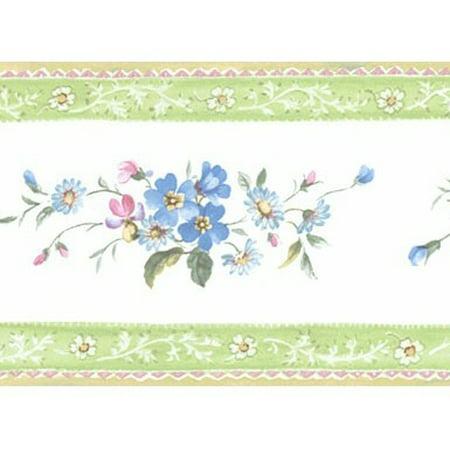 878733 Floral Mini Print Wallpaper Border PF79509 (Border Print)
