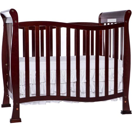Infant Wood Crib - Dream On Me Piper 4-in-1 Convertible Mini Crib Cherry