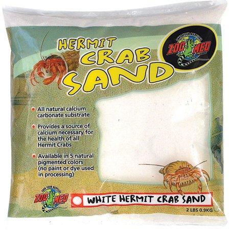 Zoo Med Laboratories Inc-Hermit Crab Sand- White 2 Pound Eco Complete Cichlid Sand