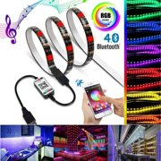 Multi Color LED Strip Light RGB SMD 5050 Indoor Outdoor light Bluetooth WiFi Phone Controll -1M