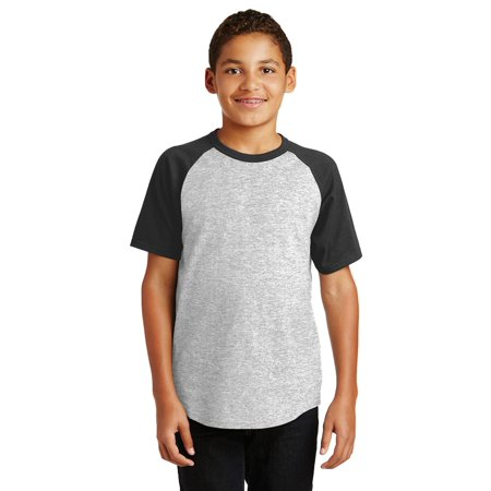 Sport-Tek Youth Short Sleeve Colorblock Raglan Jersey (Colorblock Raglan Jersey Shirt)