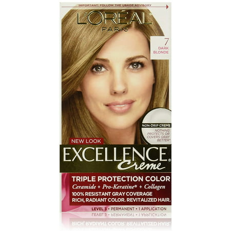 L'Oreal Excellence Triple Protection Permanent Hair Color Creme Dark Blonde [7] 1