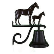 Montague Metal Products CB-1-55-NC Cast Bell With Natural Color Mare & Colt Ornament