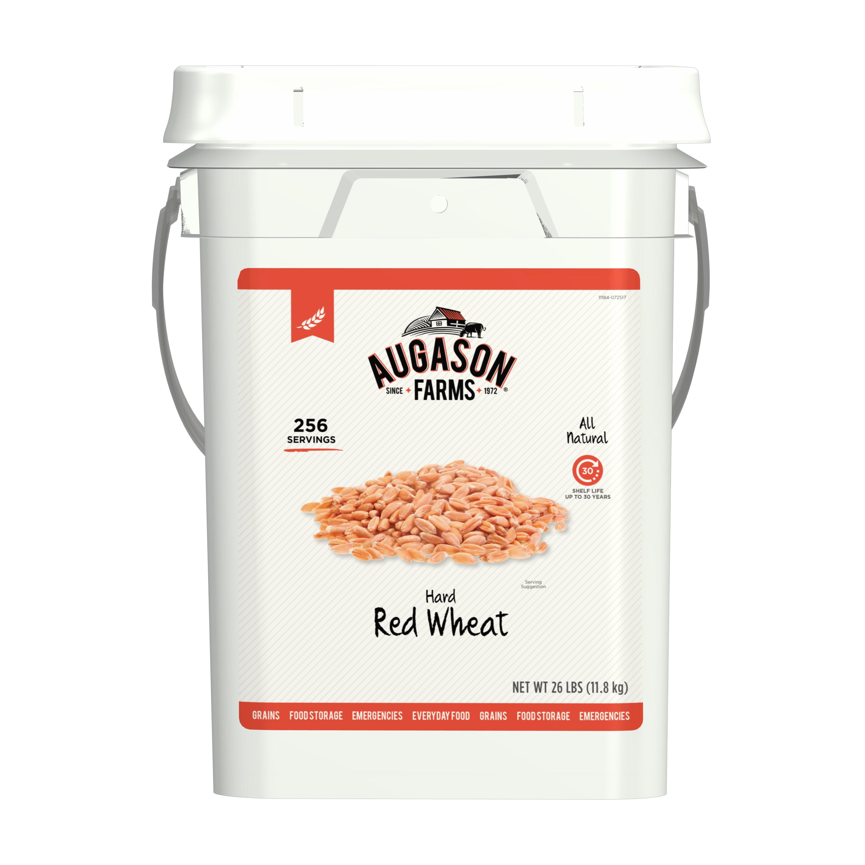 Augason Farms Hard Red Wheat Emergency Food Storage 26 Pound Pail