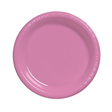 Club Pack of 240 Candy Pink Disposable Plastic Party Lunch Plates 7