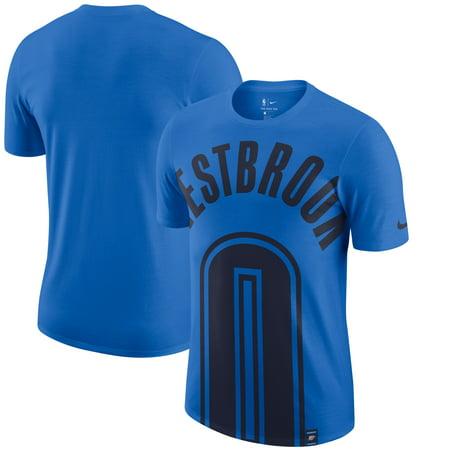 3557d313c96 Russell Westbrook Oklahoma City Thunder Nike Oversized Name & Number T-Shirt  - Blue - Walmart.com