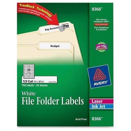 8366 Filing Label 066 Width X 343 033 Length 750 Pack