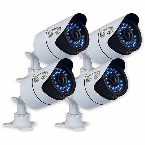 Night Owl Bullet High-Res Cameras, 4pk