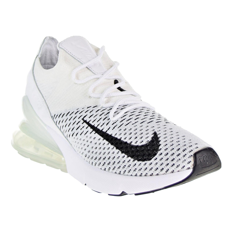 Nike Air Max 270 Flyknit Women's Shoes White/Black ah6803-100