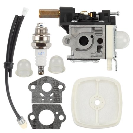 Fuel Plug - HIPA SRM230 Carburetor Air Filter for ECHO SRM201 SRM231 SRM200 SRM210 HC160 HC180 HC200 GT200 PE200 Trimmer replace Zama RB-K70A RB-K75 A021000721 with Fuel Line spark plug