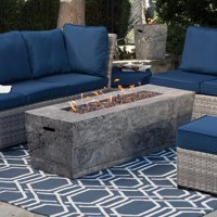 Red Ember Glacier Stone 60 in. Gas Fire Pit Table with FREE Cover