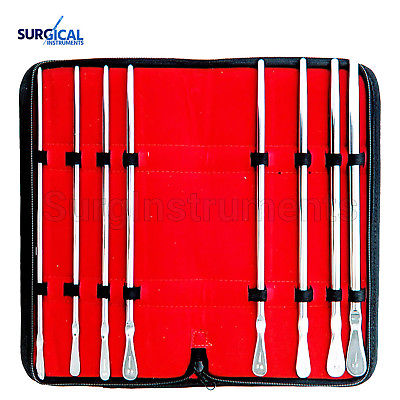 Dittel Urethral Sounds Set of 8 Urology Instruments