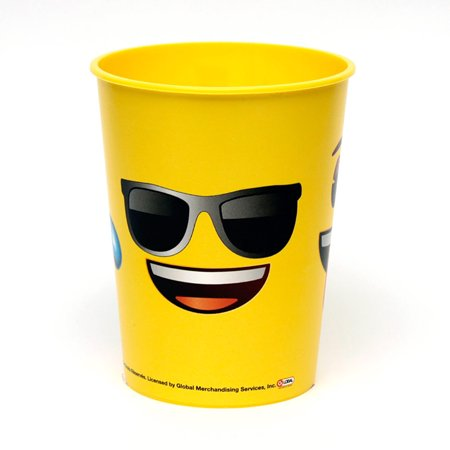 Emoji Faces 16oz Plastic Favor Cup (Each) - Party Supplies - Party Favor Cups