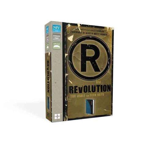 Revolution: The Bible for Teen Guys: New International Version Mediterranean Blue / Charcoal Italian Duo-Tone
