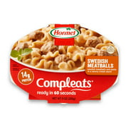 (6 pack) Hormel Compleats Swedish Meatballs, 9 Ounce