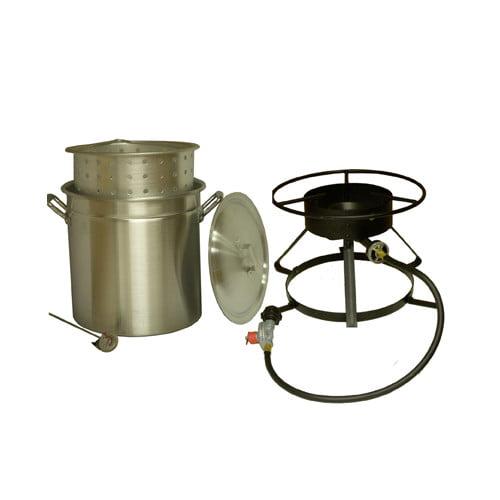 King Kooker #5012-50 Qt. Aluminum Pot & Cooker Pkg SKU: 5012