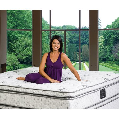 Euro Top Mattress - Wolf Legacy Euro Top Wrapped Coil with Latex Foam Mattress