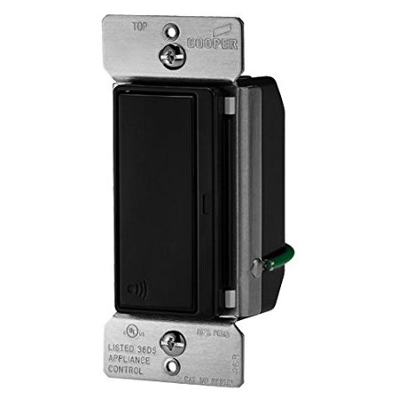 Cooper RF9501DBK Light Switch, Aspire RF 4-Way 15A 120V Deco Rocker ...
