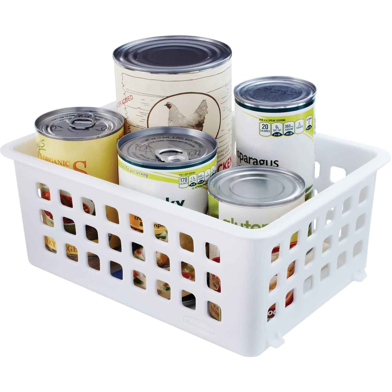 Rubbermaid White Slide/Stack Basket