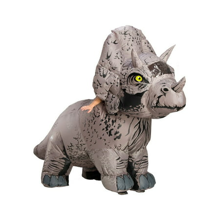Jurassic World: Fallen Kingdom Mens Triceratops Inflatable Halloween Costume - Mens Bear Halloween Costume