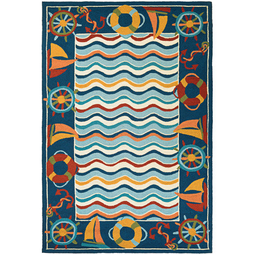 Couristan Beachfront North Bend Rug In Multi - (2 Foot x 4 Foot)
